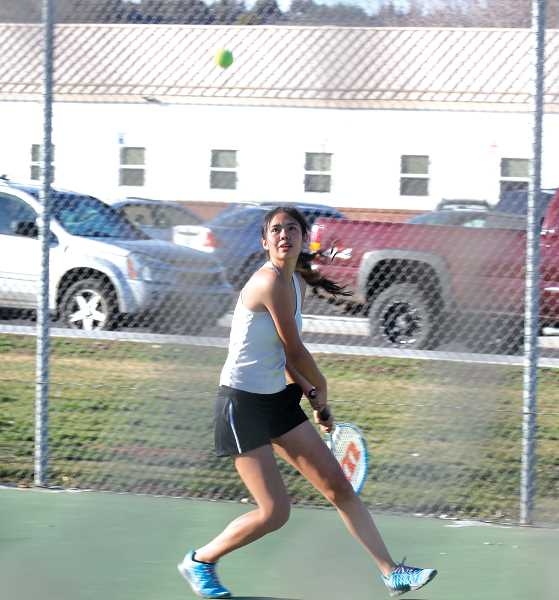 by: JEFF WILSON/THE PIONEER - Senior Itzel Romero tops the list of Madras singles players this season.
