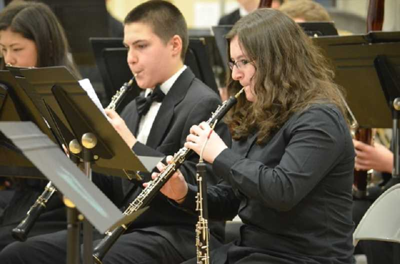 by: JANIS BRENTANO - The Portland Youth Wind Ensemble performed at Valor Middle School Wednesday. The musical group also invited local band members to join them for a few pieces.