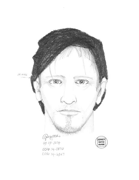 by: OCPD - This sketch of the suspect is based on witness testimony after the OC jewelry-store robbery.
