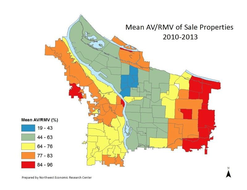 Source: Northwest Economic Research, based on homes sold 2012-13.
