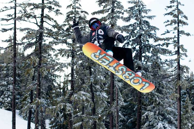 by: GREG ARTMAN - Thomas Previs took third place in boys slopestyle to lead the Wilsonville snowboarding team at the state championships March 13-15 at Mt. Bachelor.