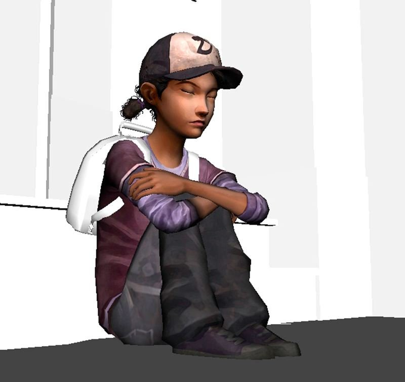 by: CONTRIBUTED PHOTO - This animated picture of a girl sitting is taken from the video game The Walking Dead, one of the numerous works in Rob Bekuhrs animation catalog.
