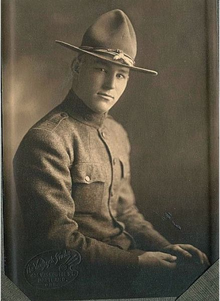 by: COURTESY OF ROBERT SHORT - The mystery photograph may be of an Oregon National Guard soldier who mustered for skirmishes along the Mexican border in 1916 after being mobilized by President Wilson.