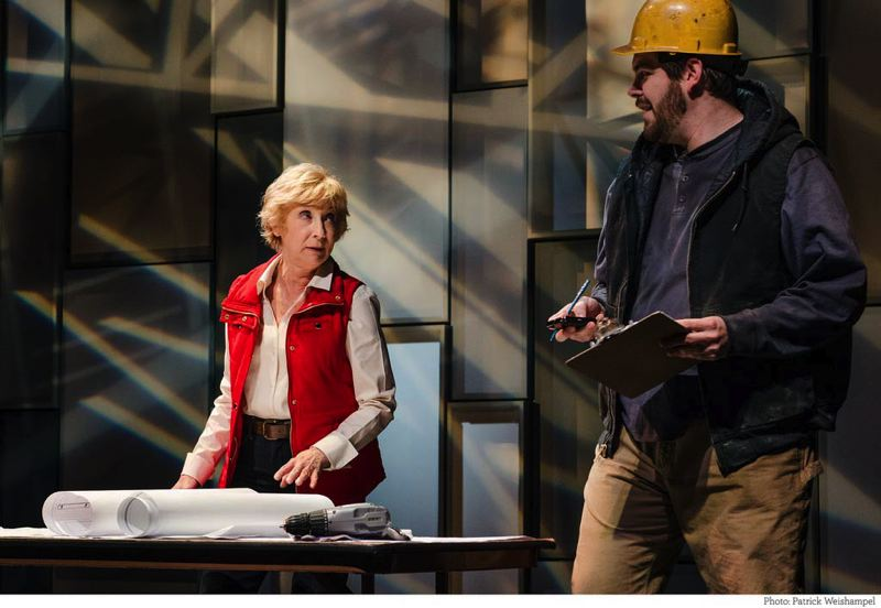 by: COURTESY OF PATRICK WEISHAMPEL/PCS - Isaac Lamb (with Peggy J. Scott) played construction worker Billy Fontaine in A Small Fire, and now directs and stars in Third Rail Repertory's 'Midsummer' (a play with songs). He's part of eight productions this season.