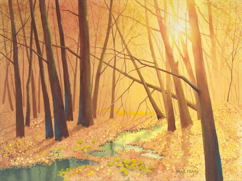 by: SUBMITTED PHOTOS - Mike Frary is a new member of Lake Area Artists. This is one of his pieces, titled Autum Forest.