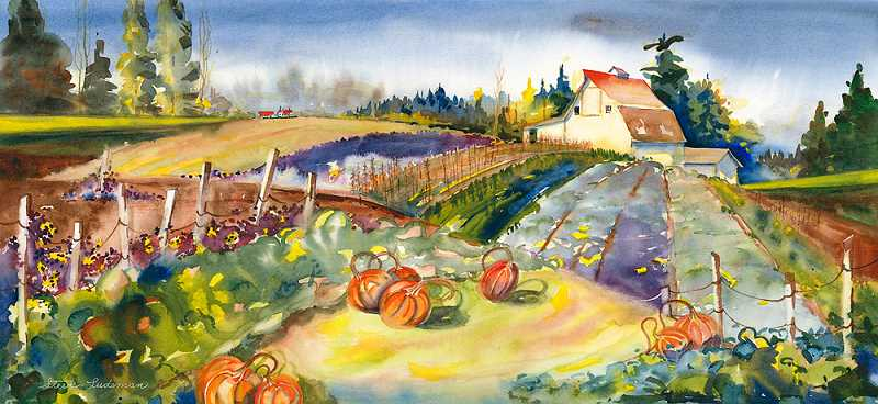 by: SUBMITTED PHOTOS - Steve Ludeman is another new member of Lake Area Artists. His watercolor, Autum Bounty, will be exhibited at the sale.