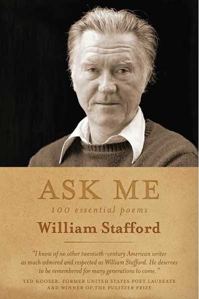 The library book club will meet to discuss 'Ask Me: 100 Essential Poems of William Stafford' April 10 at 6 p.m.