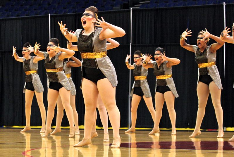 by: OUTLOOK PHOTO: BRIAN MONIHAN - The Gresham High Rhythmettes dance and drill team took first place in the 6A large schools category at the OSAA 2014 State Dance and Drill competition with an overall score of 83.61.