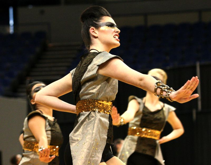 by: OUTLOOK PHOTO: BRIAN MONIHAN - The Rhythmettes gave it their all this year with hours of practice and workouts. Their hard work paid off with a first-place victory at state.
