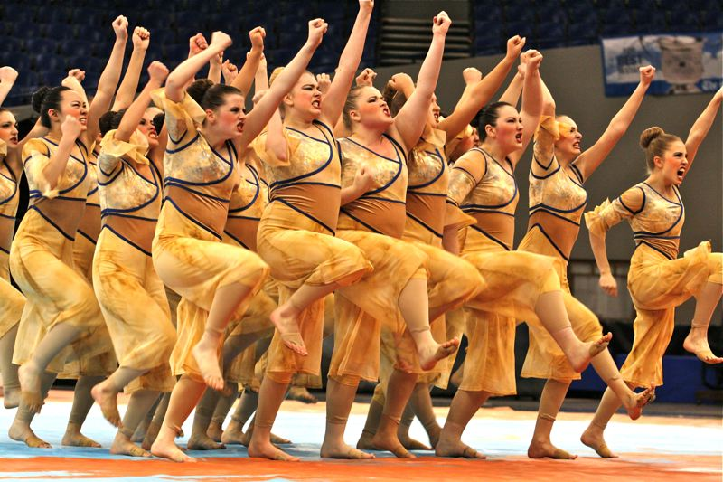 by: OUTLOOK PHOTO: BRIAN MONIHAN - David Douglas High Dance and Drill team placed seventh in the small schools category at the recent OSAA 2014 State Dance and Drill competition.