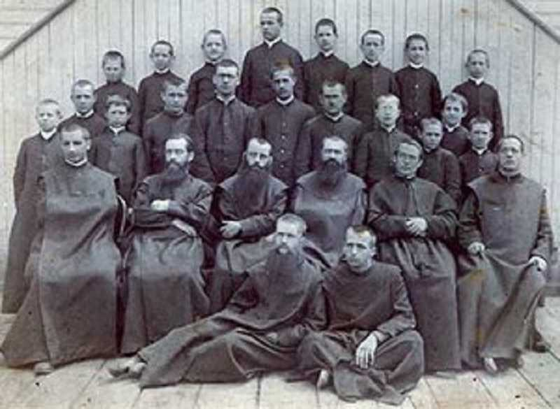 by: MOUNT ANGEL SEMINARY - Mount Angel Seminary faculty and students, circa 1890.