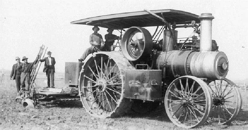 by: SUBMITTED - This steam tractor, which aided the harvesting of crops, can now be seen at the Powerland Museum in Brooks.
