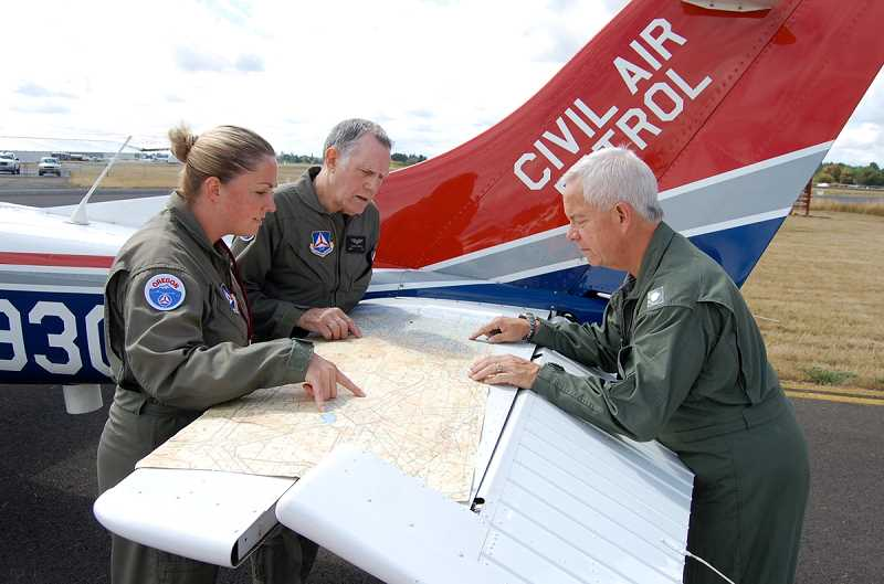by: CIVIL AIR PATROL - The Civil Air Patrol's Oregon Wing conducted a statewide exercise Saturday to determine readiness in case of an emergency. The CAP operated one of its three statewide missions out of Aurora State Airport.