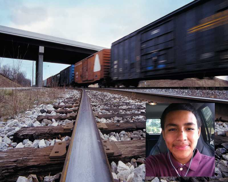 by: SUBMITTED - Train tracks between Gervais and Woodburn are not only high traffic areas for trains (as seen in this photo above, courtesy of Metro Creative Graphics), but also a lot of pedestrians, including 13-year-old Diego Rodriguez (right) who was killed in October after being hit by a train.