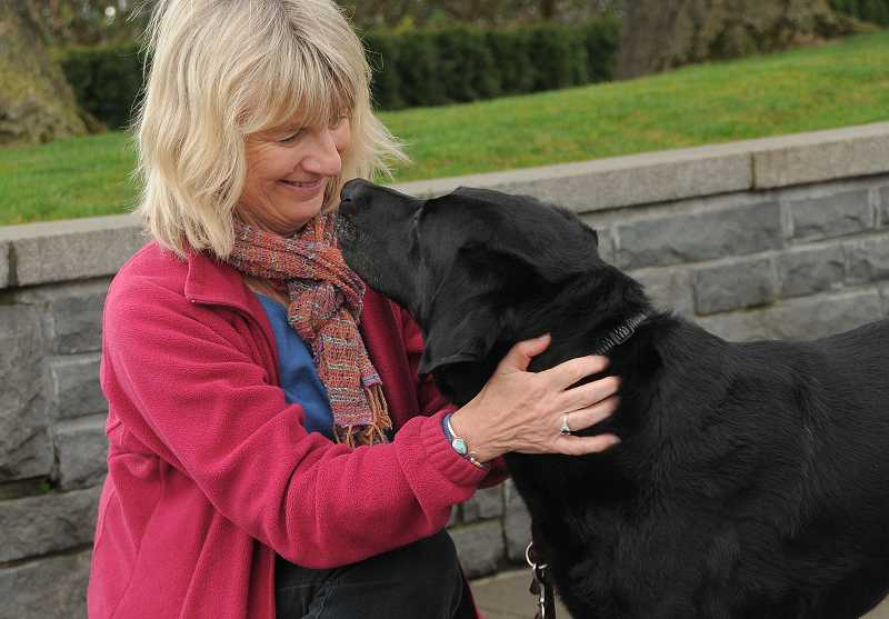 by: PAMPLIN MEDIA GROUP: VERN UYETAKE - Marilyn Lewis provides foster care for retired guide dogs until they find a permanent home, and it doesn't take long for her to develop a connection with them.