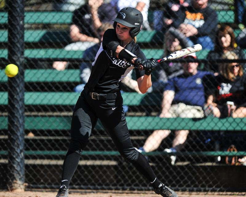 by: COURTESY OF JOHN LARIVIERE - Portland States Shae Nelson says she likes to keep opposing pitchers and defenses guessing what she is going to do as the Vikings leadoff batter.