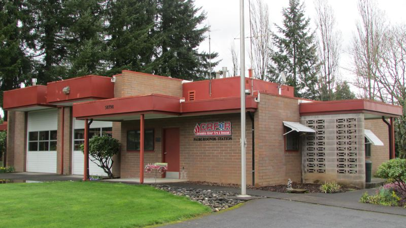 by: SPOTLIGHT PHOTO: MARK MILLER - The Fairgrounds Station, located near the Columbia County Fairgrounds west of St. Helens, is one of the facilities that Columbia River Fire & Rescue plans to upgrade if voters approve a $15 million bond issue in May.