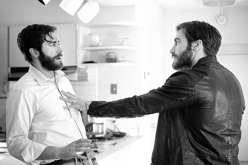 by: RHOMBUS MEDIA - Seeing double - Jake Gyllenhaal portrays Adam Bell (left) and Anthony Clair in a psychological thriller based on Jose Saramago's 'The Double.'