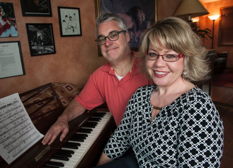 by: SPOKESMAN PHOTO: JOSH KULLA - The Hardimans, Rebecca (right) and Ray (back), met more than 30 years ago, and even then music was at the center of their relationship. Today, that remains true, as the couple have helped create a popular Friday jazz night at a Wilsonville night spot.