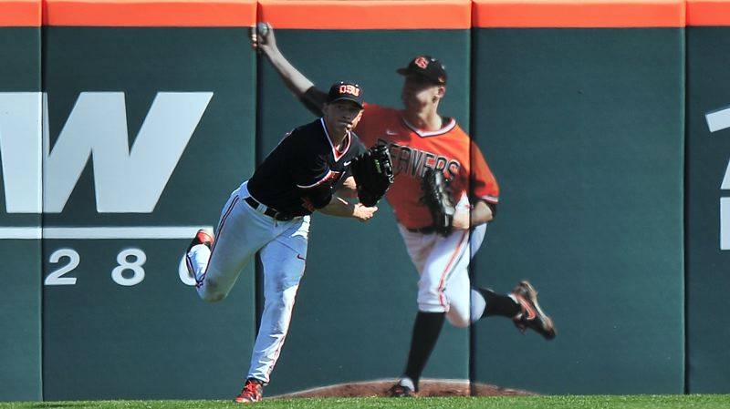 by: COURTESY OF SCOBEL WIGGINS - Oregon State center fielder Jeff Hendrix has been a key player this year for the Beavers.