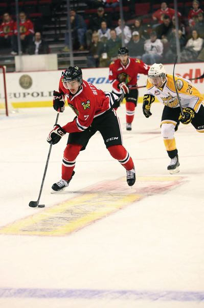 by: COURTESY OF BRYAN HEIM - Paul Bittner, from Crookston, Minn., gives the Winterhawks some size on a forward line loaded with quickness and skill, and Bittner, 17, figures to have an even bigger impact on the team in years to come.
