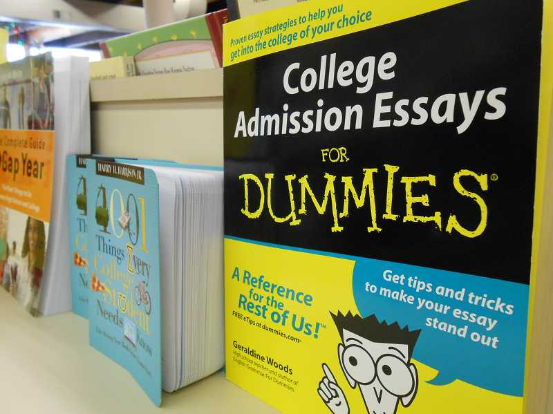 by: REVIEW PHOTO: JILLIAN DALEY - The essay portion of the SATs soon will become optional, although some colleges may still require it. Grahams offers some college-oriented books including this one, College Admission Essays for Dummies.