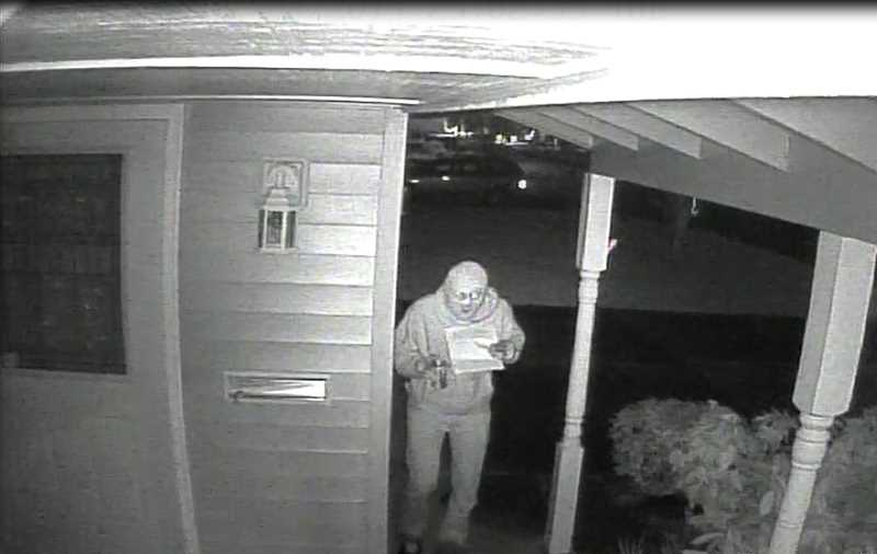 One of a series of surveillance photos released by Woodburn police, related to the suspects involved with the vandalism of homes in The Estates retirement community.