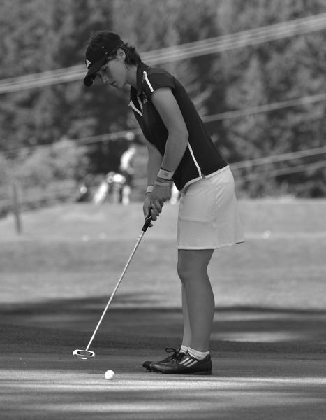 by: VERN UYETAKE - Kristin Elich is a top returning senior for West Linn's girls golf team this year. She finished in a tie for 10th at state last season.