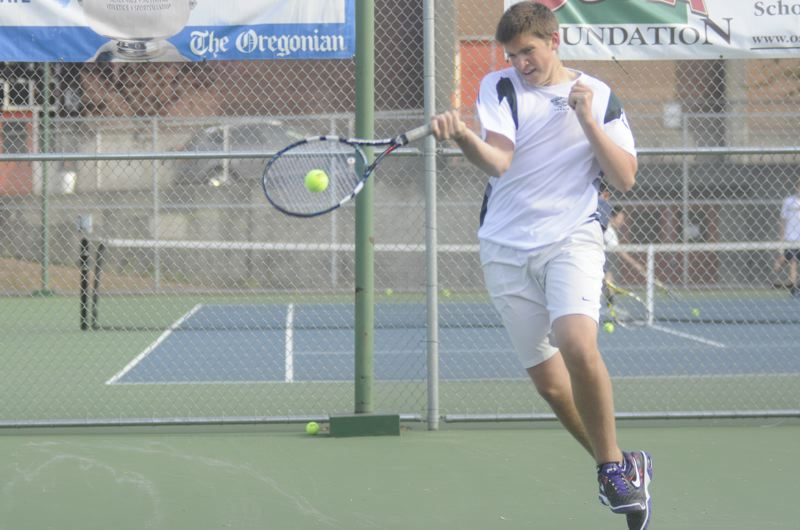by: MATTHEW SHERMAN - Mitch Tingey is one of West Linn's most experienced varsity players. He returns to the Lions as the squad's No. 2 singles player this year.
