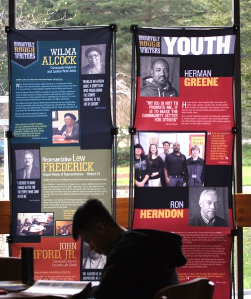 by: OUTLOOK PHOTO: JIM CLARK - Each year, students at Roosevelt High School tell the stories of local Freedom Fighters. Their efforts have been on display at Mt. Hood Community College.