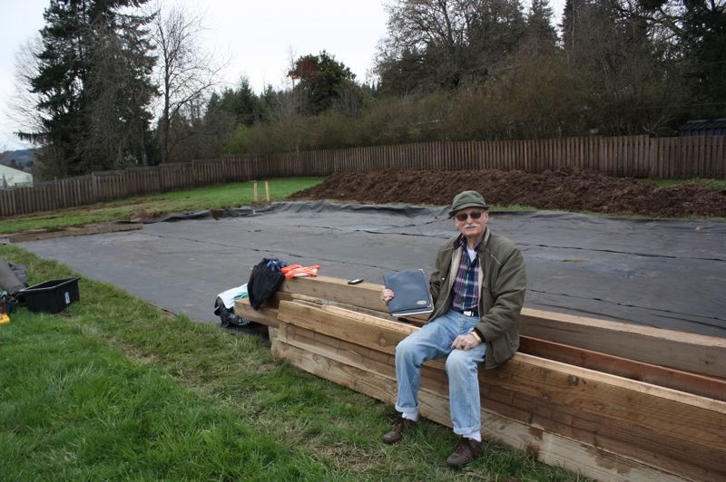 by: SPOTLIGHT PHOTO: ROBIN JOHNSON - Bill Marinelli, a Scappoose bocce player, said the courts will be constructed to accommodate various rules of play.