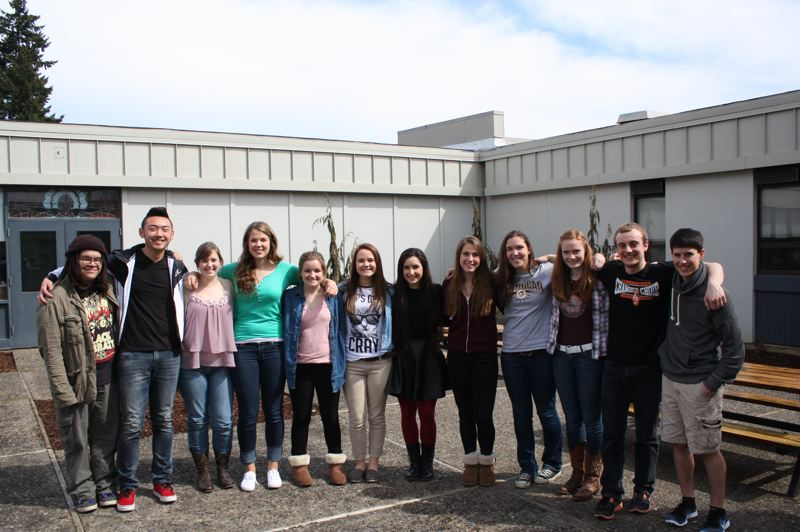 by: SPOTLIGHT PHOTO: ROBIN JOHNSON - Students with the SHS leadership class divided into groups to plan and organize the schools annual Doernbecher Days fundraiser.