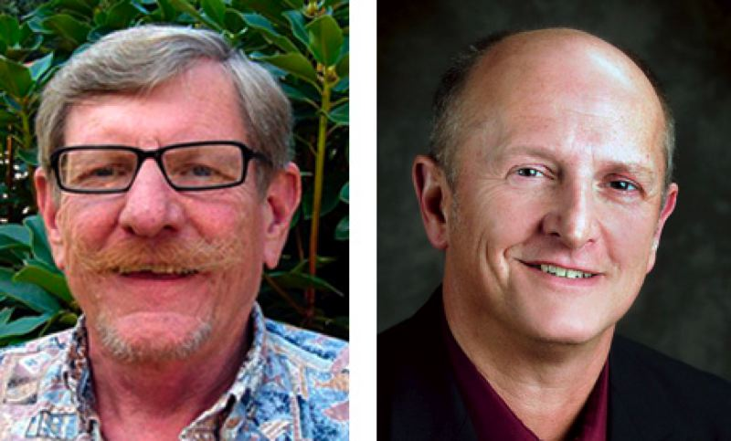 by: FILE PHOTOS - Steve Bates, left, is challenging incumbent Jim Bernard for the Position 5 seat on the Clackamas County Commission.