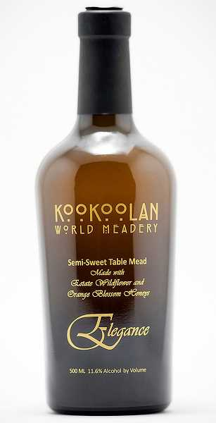 by: SUBMITTED PHOTO - International champs -- 'Elegance' from Kookoolan World Meadery in Yamhill won silver in its category recently during the Mazer Cup International  competition. Kookoolan owner Chrissie Zaerpoor said there were more than 350 entries to the contest, and as far as mead competitions go, Mazer is likened to the Oscars.