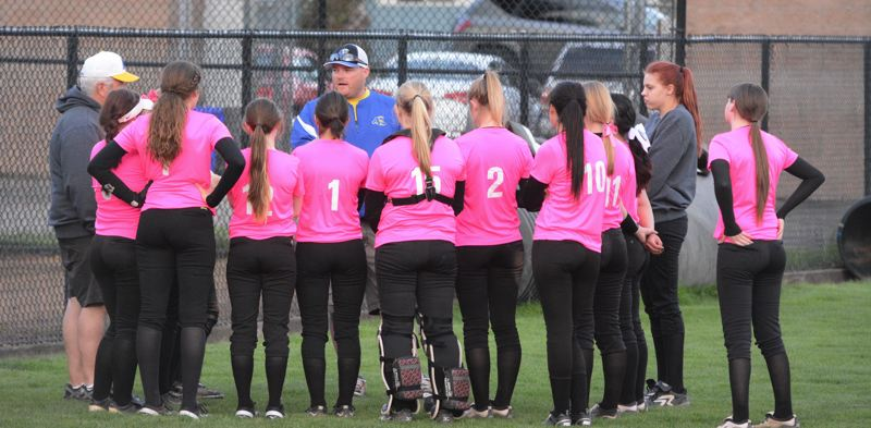 by: TIMES PHOTO: MATT SINGLEDECKER - New Aloha softball coach Scott Coombs said itll take a total team effort to keep the Warriors atop Metro.