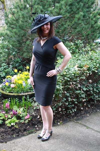 by: SUBMITTED PHOTO: LAUREN HUGHES - Jennifer Grant looks very high fashion in this beautiful black hat from Lucky Me Boutique in Lake Oswego. She was joined in modeling by her mother and daughter.
