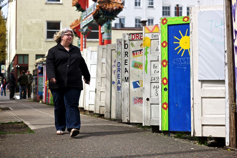 by: TRIBUNE PHOTO: JAIME VALDEZ - Assault victim advocate Susan Lehman says most of Portland's homeless women have been assaulted or raped. The victims often are part of the vulnerable population in the city's Old Town area and other neighborhoods.