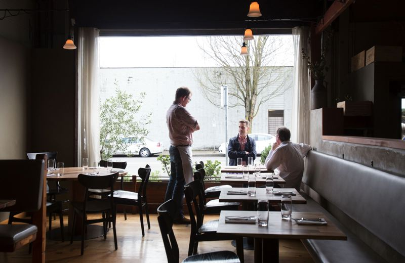 by: TRIBUNE PHOTOS: JONATHAN HOUSE - The Davenport restaurant features a wide open dining area, with lots of clean lines and light. Its a new restaurant that is elegant, upscale and relaxed, an example of a top-end Pacific Northwest bistro.