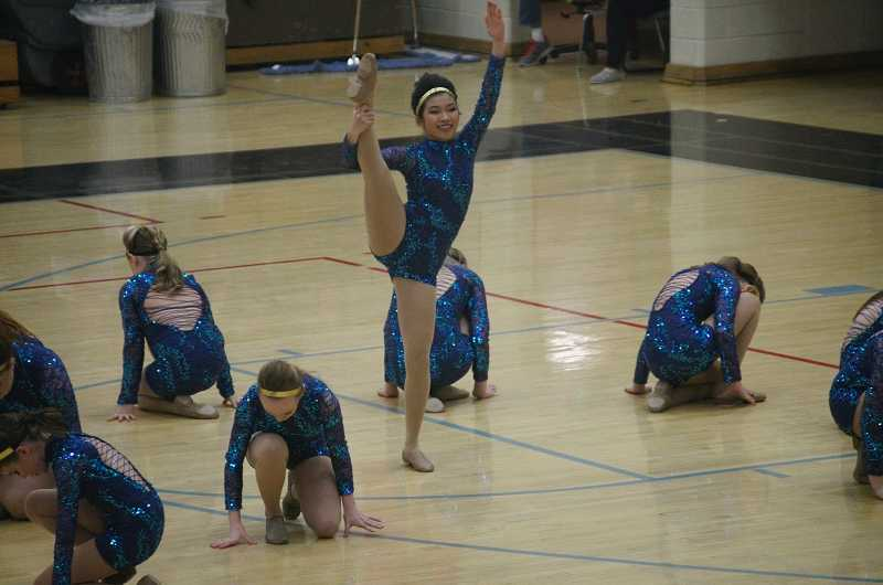 by: SUBMITTED - Synergy dancers perform at the state competition on Saturday, April 5. The team brought home the state championship in the large middle school division.