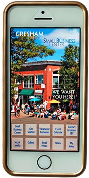 by: CONTRIBUTED: CITY OF GRESHAM - The Small Business Center app developed by city of Gresham staff shows a scene from Historic Downtown Gresham.