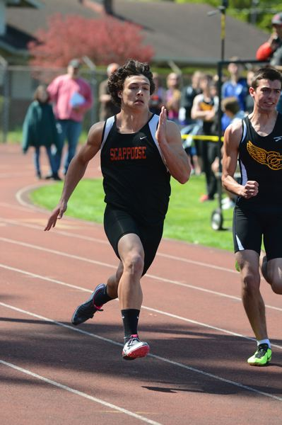by: JOHN WILLIAM HOWARD - Scappoose senior Carson Davison finished third in the 100 meter race, and the 4x100 relay squad to set the fastest time in Class 4A so far this season. If the relay teams continue their current trend, they'll break a pair of school records before the season is out.