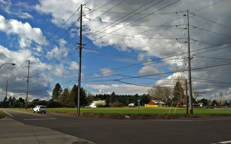 by: SPOKESMAN PHOTO: JOSH KULLA - The 181-acre Frog Pond area in east Wilsonville, shown here at the corner of Stafford and Boeckman roads, is slated for the development of up to 1,000 single-family homes in the coming years.
