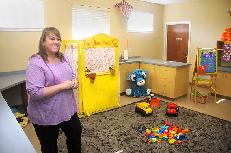 by: GARY ALLEN - New business - New daycare owner Lori Goodwin is putting the finishing touches on her center, 'Play and Learn Daycare.' She hopes to utilize creative curriculum with the children, getting them ready for kindergarten.