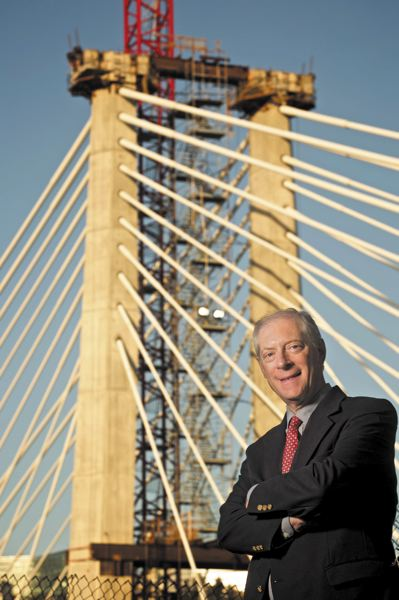 TRIBUNE PHOTO: JAIME VALDEZ - Chet Orloff, an adjunct professor of urban studies and planning at Portland State University, says the committee was unanimous in its name selection for the new Willamette River transit bridge. Orloff is also a 22-year member of the Oregon Geographic Names Board and director emeritus of the Oregon Historical Society.