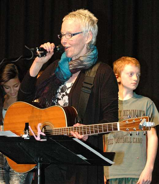 by: ISABEL GAUTSCHI - Ellen Whyte has spent her artist-in-residency at Estacada Junior High School introducing students to the blues.