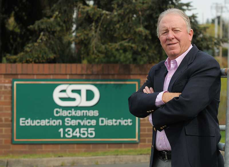 by: REVIEW PHOTO: VERN UYETAKE - Clackamas Education Service District Superintendent Milt Dennison cautioned that the CESD budget estimates are based in part on student head count, which could change in the next several months.