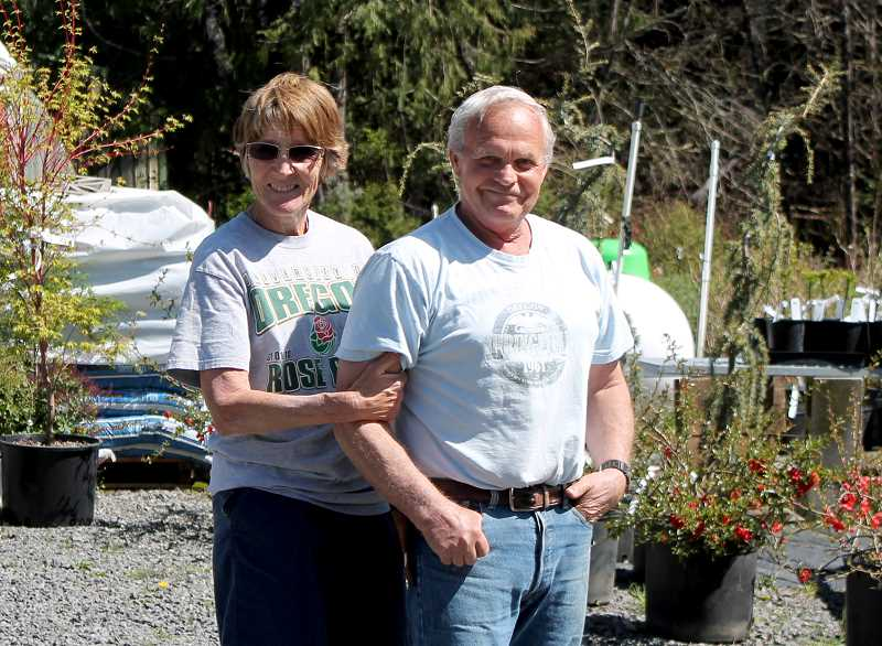 by: CORY MIMMS - Kathy and Ken Carroll, who run K's Nursery in Colton, Ore.