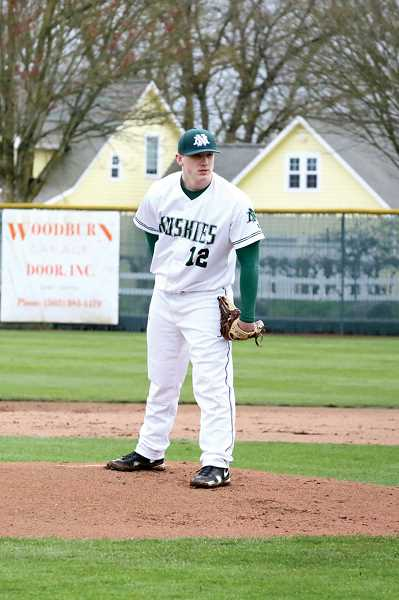by: JO WHEAT - North Marion junior Hunter Beachy is joined by teammates Brock Breshears, Emry Patterson and Jordan Kendall have proved to be a formidable pitching staff for the Huskies thus far this season.