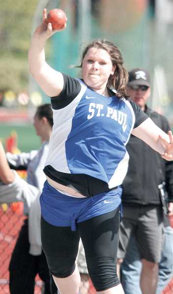 by: PHIL HAWKINS - St. Paul sophomore Emma Coleman placed 16th in the shot put at the Meet of Champions with a throw of 29-8.25.