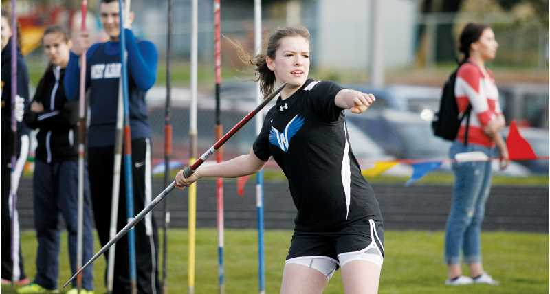 by: PHIL HAWKINS - Fellow junior Ashley Doman added points for the girls team by placing in the top three in the shot put, discus and javelin. Doman scored career-best marks in the shot and discus while taking a season-best mark in the javelin.
